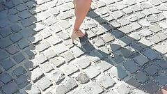 Candid Milf Walking on the Street City