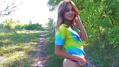 teen beauty Stefani keeps herself fit