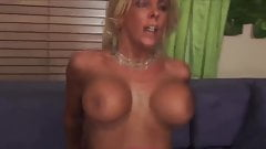 Blonde big tits milf with heels fucks