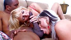 Mature thin blondes enjoy big