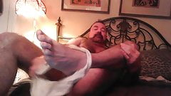 Hairy Daddy Bear enjoys  his mansmell and  sweaty underwere