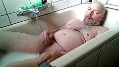 Naked man masturbating