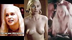 Emilia Clarke Nude Tits-Khaleesi Fucked-Game of Thrones's Thumb