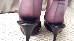 Havana Fully Fashioned Nylon Stockings Heel Foot Fetish