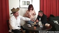 Poker playing granny is fucked