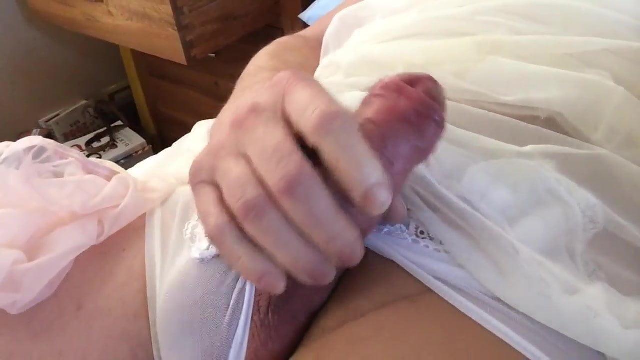 Big Hard Cock in See Thru Panties, Man Porn 15: