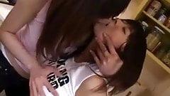 Japanese Lesbian Boob Play