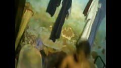 shyless tamil housewife nude dress change in public room
