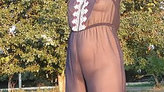 Hairy mature in transparent clothes