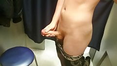 Teen cum in public fitting room