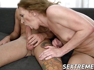 Good looking granny feet licked and screwed by handsome stud