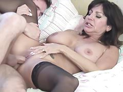 Old super hot mom takes young sausage