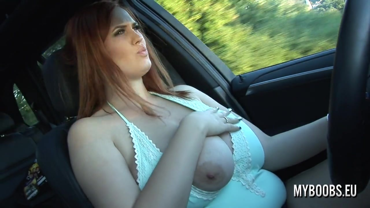 Alexsis faye drive x5 naked and playing with her huge tits 5