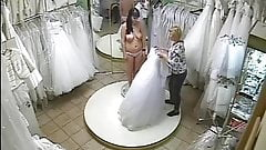 Wedding dress shopping voyeur