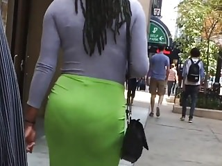 Green Skirt Phat Ass VPL