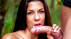 LETSDOEIT - Outdoor Blowjob In The Woods with Alexa Tomas's Thumb