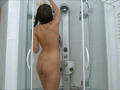 Naughty Teen Pussy Fingering In Shower