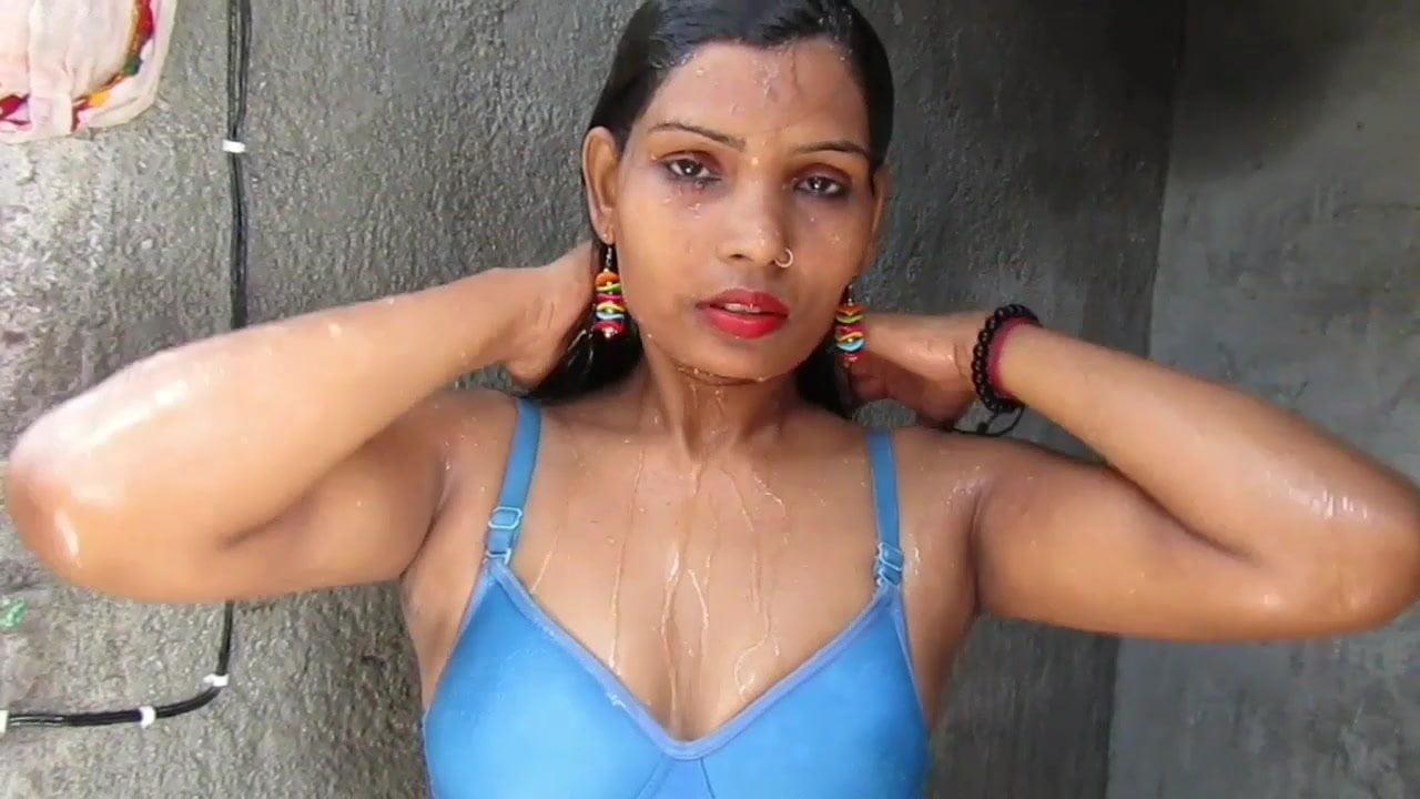 Scorching And Attractive Bikini Lady PINKI Desi Savar taking a shower