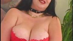 Hairy fat girl masturbation and interracial sex