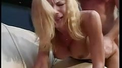 Hot little blonde with a great set of tits loves a big dick in her tight snatch