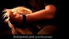 Romanian blonde bdsm used in a dark basement
