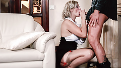 VipSexVault -Classy Barbara Nova Makes Love By The Fireplace