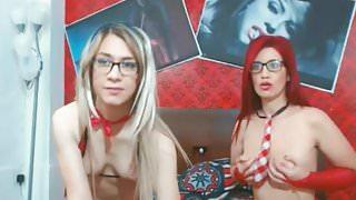 Redhead Slut Gets Kinky with Tranny