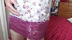 wearing my nylon slips 07