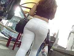 Gorgeous BIG ass student in tight jeans