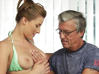 Daddy4k bad dad with a tiny gf of his son - 1 part 1