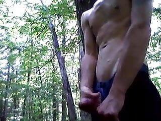 Twink Wanking In The Woods Between College Classes