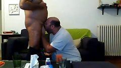 Chubby sucking daddy's dick