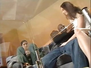 Gaping gay assholes - Skinny teen riding fat black cock with her tight asshole