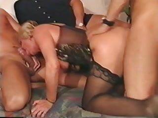 90's German Granny Gets It! MMMF 4Way..