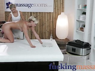 Massage Rooms Young blonde lesbians finger fuck each other
