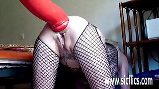 Extreme anal fisting and XXL dildo insertions
