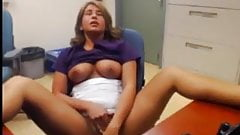 Blonde mature masturbation in
