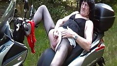 Old tranny. Cock & ass play