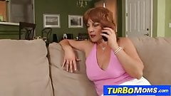 Old redhead whore Sarah enjoys a young dick