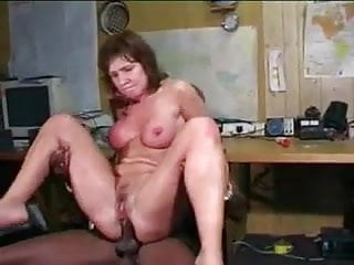 White MILF Swallows Black Cock In All Holes