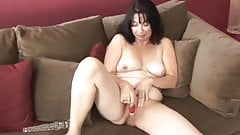 Sexy old spunker fucks her fat juicy pussy for you
