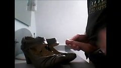 Cum on Mustang shoes