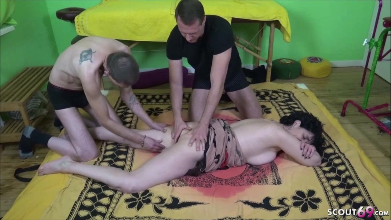German Husband let Young Boy Fuck his Wife in Threesome