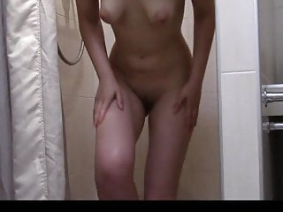 My sister in law under shower 3
