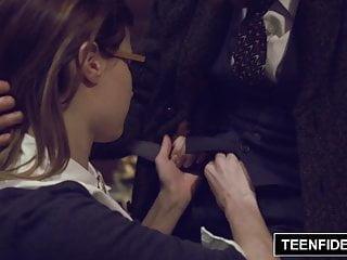 TEENFIDELITY - Schoolgirl Alaina Dawson Creampied By Teacher