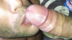 Sucking a big latin cock