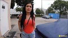 Roadside - Stranded Latina Teen Fucks The Mechanic