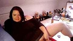 Hot fat BBW with creamy pussy Cumming on cam for her BF