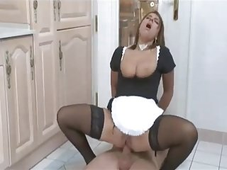 Sexy Susi Assfucked Maid In Stockings
