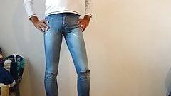 crossdresser in tight ripped skinny jeans